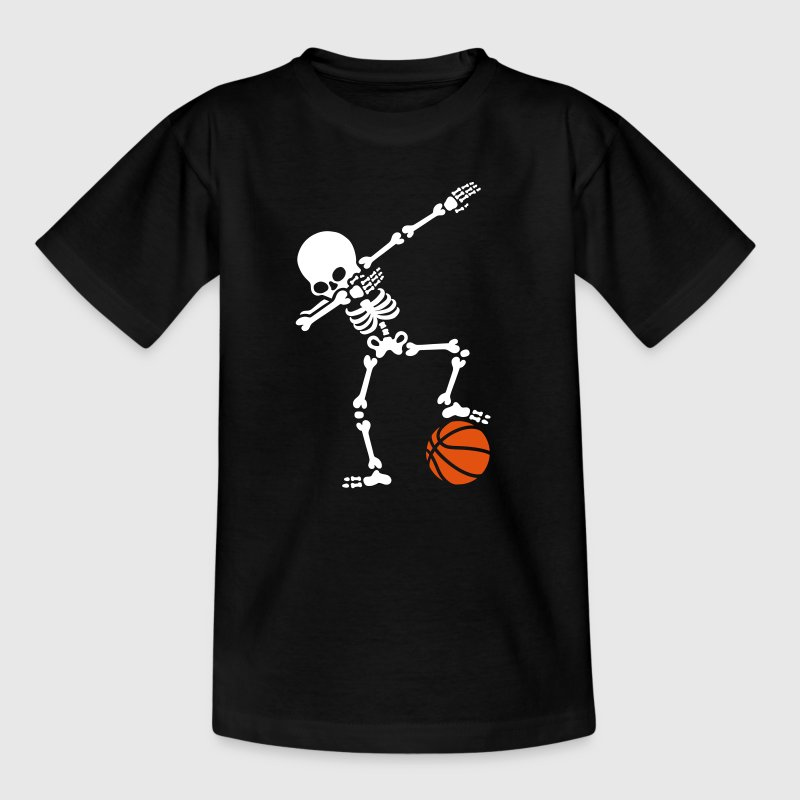 Dab dabbing skeleton football basketball - Kinderen T-shirt