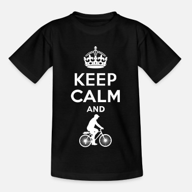 Keep Keep Calm - Radfahren - Kinderen T-shirt
