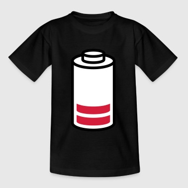 Leere Batterie - Kinder T-Shirt