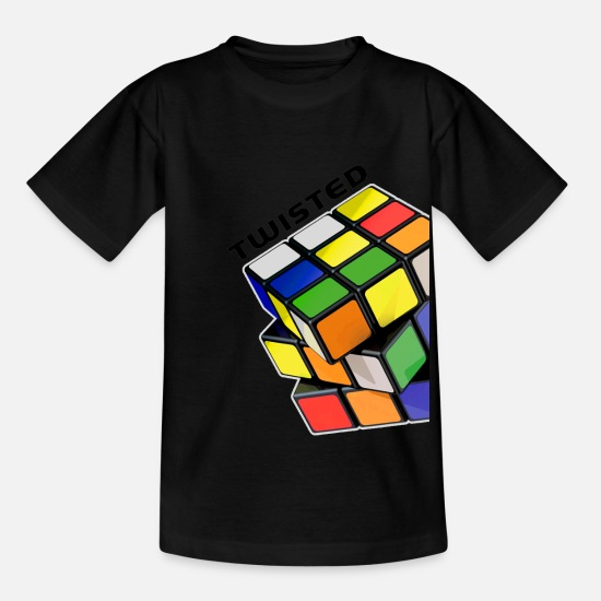 Cube T-Shirts - Rubik's Cube Twisted Sides - Kids' T-Shirt black