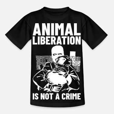 Animal Liberation Animal Liberation Is Not A Crime (white) - Kids' T-Shirt