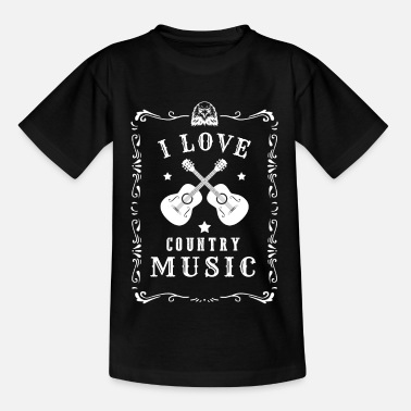 Countrymusic I Love Country Music Music Countrymusic Gift - Kids' T-Shirt