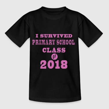 I survived primary school class of 2018 pink - Kids' T-Shirt