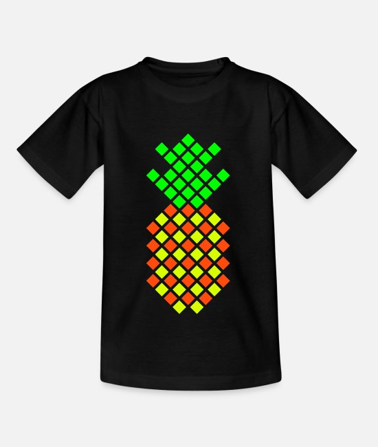 Nature T-Shirts - Pineapple - Kids' T-Shirt black