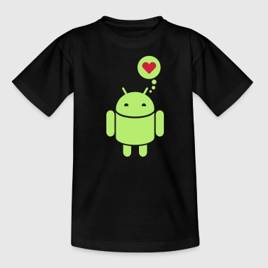 Droid Droid in Love 2c - Børne-T-shirt