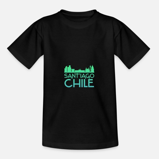 South America T-Shirts - Santiago - Kids' T-Shirt black