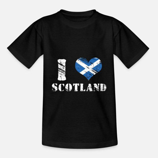 Love T-Shirts - Scotland Love Patriot Gift - Kids' T-Shirt black