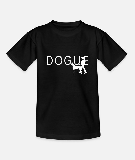 Dog Owner T-Shirts - Dogue - Kids' T-Shirt black