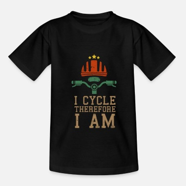 Bmx Funny cyclist biker riding bicycle gift - Kids' T-Shirt