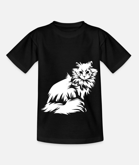 Cat Lady T-Shirts - Neva Masquarade cat tomcat - Kids' T-Shirt black
