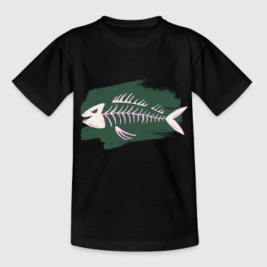 Fish skeleton costume Halloween fisher scary - Kids' T-Shirt