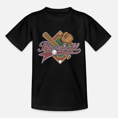 Sports Baseball Sport Glove Bat Gift - T-shirt til børn
