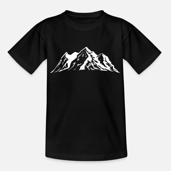 Symbol  T-Shirts - mountains mountains symbol - Kids' T-Shirt black