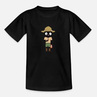 Park Ranger Park Ranger cat with uniform - Kids' T-Shirt