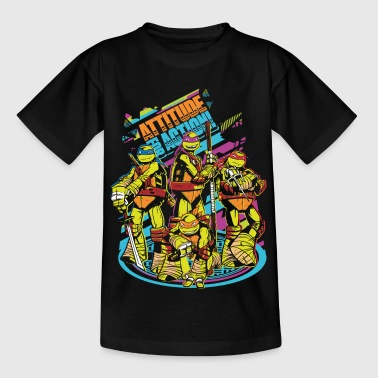 Tortues Ninja Attitude For Action - T-shirt Enfant