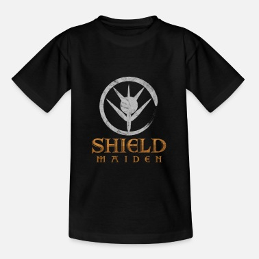 Shield Shield Maiden Scandinavian Folklore Viking - Kids' T-Shirt