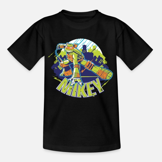 Tmnt T-Shirts - TMNT Turtles Mikey With Nunchucks - Kids' T-Shirt black