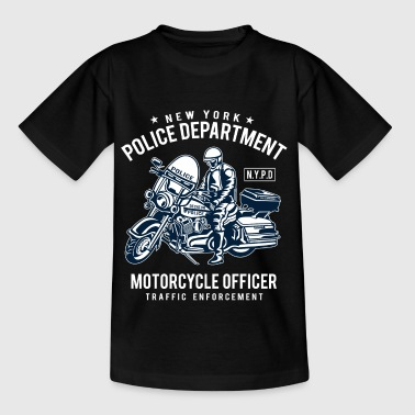 POLICE DEPARTMENT - Police Motorcycle Shirt Motif - Kids' T-Shirt