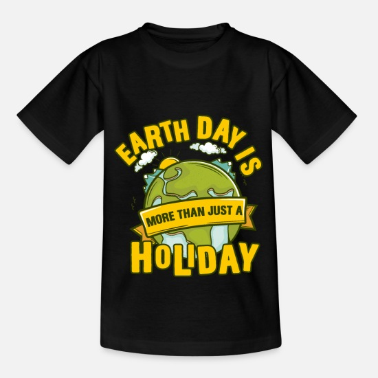 Gift Idea T-Shirts - Earthday Environmental Protection Mother Earth Climate Gift - Kids' T-Shirt black