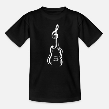Guitar | Electric Guitar | Clef | Note | Graphic guitar - Kids' T-Shirt