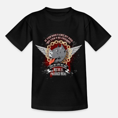 Rescue Rottweiler-If You Dont Like My Dog We Cant Be Fri - Kids' T-Shirt