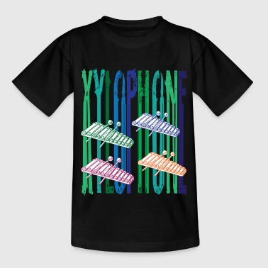 Rainbow xylofon - T-skjorte for barn