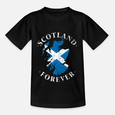 Scotland Scotland Edinburgh Bagpipe Highland Kilt Map - Kids' T-Shirt