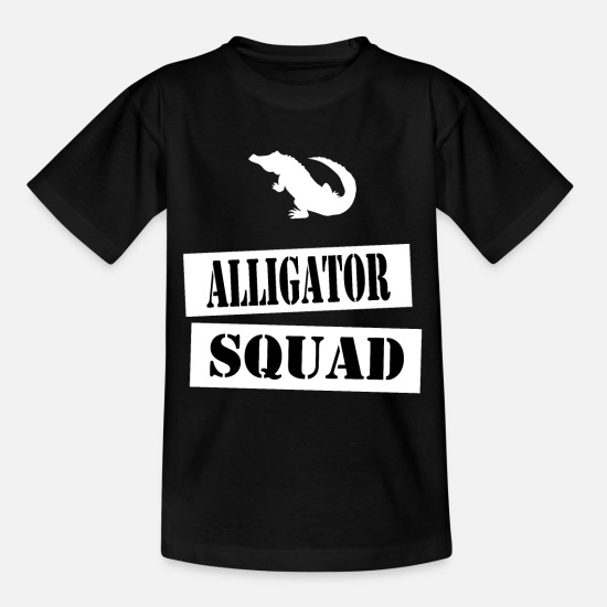 Alligator T-Shirts - join the alligator squad - Kids' T-Shirt black