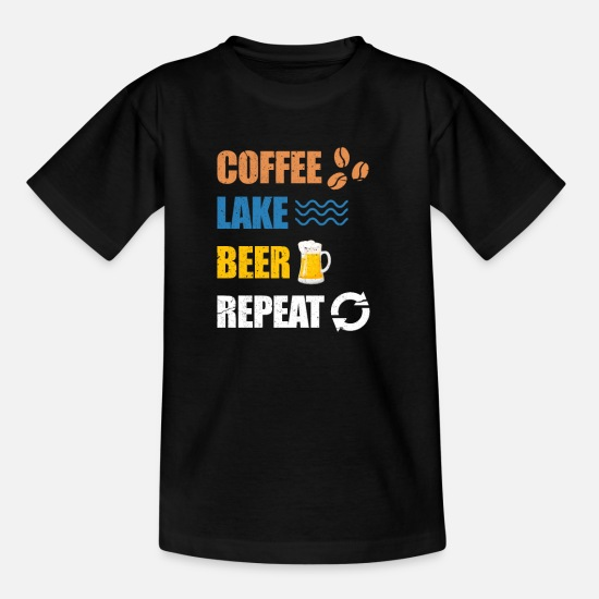 Harbour T-Shirts - Coffee lake beer - Kids' T-Shirt black
