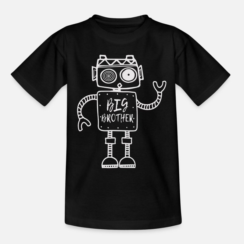 Robot T-Shirts - Robot, Big Brother, Siblings, Big Brother - Kids' T-Shirt black