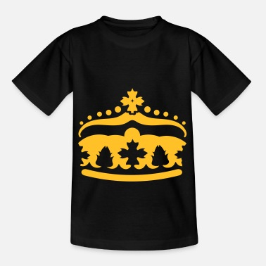 Golden Crown stylized golden crown - Kids' T-Shirt