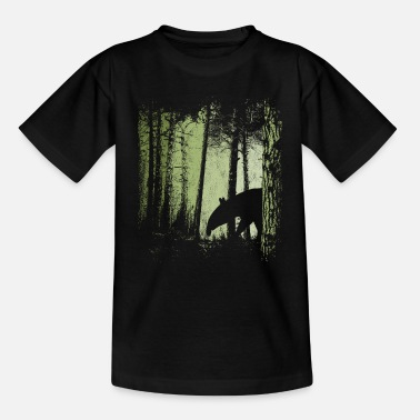 Tapir silhouette in | Twilight forest - Kids' T-Shirt