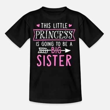 Zus Dit Little Princess Is Going To Be A Big Sister - Kinderen T-shirt