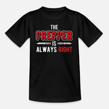 Especialista en supervivencia prepper - Camiseta niño