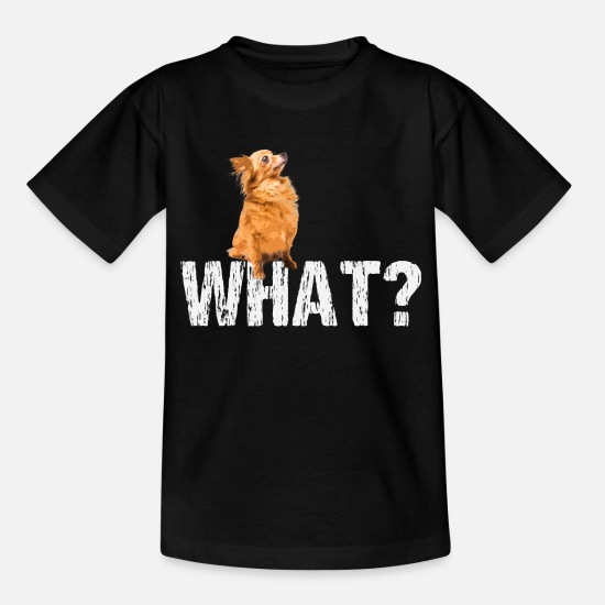 Golden Retriever T-Shirts - dog pointed Pomeranian zwergspitz - Kids' T-Shirt black