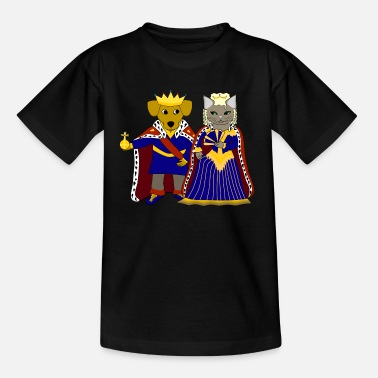 King Queen KIng dog and queen cat - T-shirt Enfant
