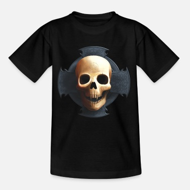 Skull Cross Skull on Cross - Kids' T-Shirt