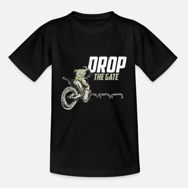 Verjaardag Motorcross grafisch Crossmotor Tee Drop The Gate - Kinderen T-shirt