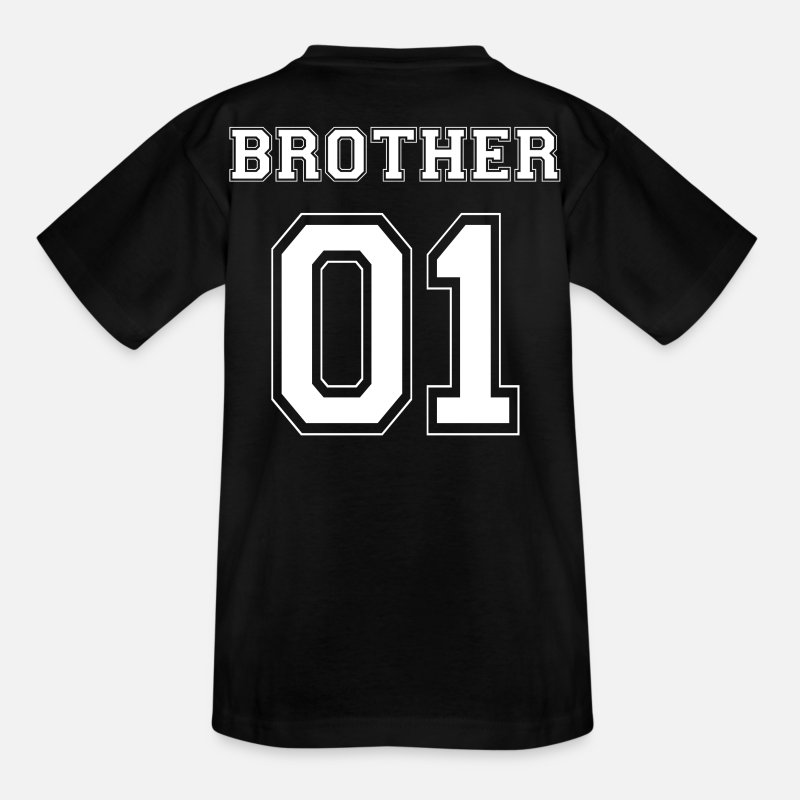 Gift Idea T-Shirts - BROTHER 01 - WHITE EDITION - Kids' T-Shirt black