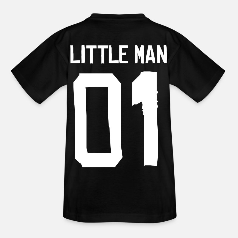 Zoon T-Shirts - Little Man - partner Shirt - Kinderen T-shirt zwart