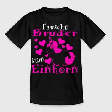 einhorn kindysweiss - Kinder T-Shirt