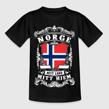 Norge - Norge - Norge - Børne-T-shirt