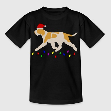 Italian Spinone (Orange and White) Christmas - Kids' T-Shirt