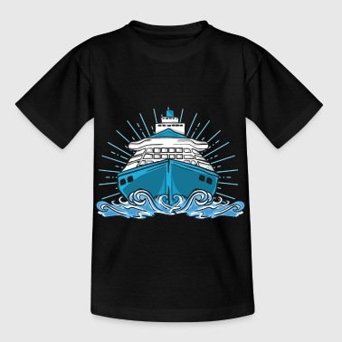 Ship cruise lake sea cruise ship boat - Kids' T-Shirt