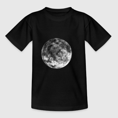 Moon Space Space Space gave - Børne-T-shirt