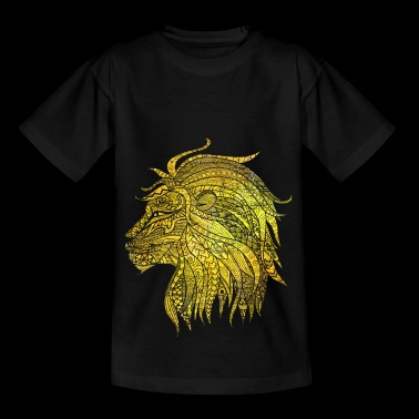 Lion Cat Gift Noble King Meow Power - Børne-T-shirt