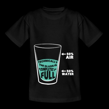 Technically, the glass is full - Kids' T-Shirt