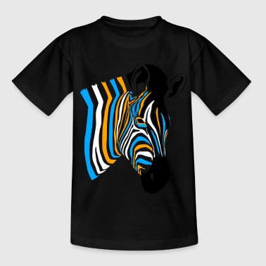 multicolor zebra - Kids' T-Shirt
