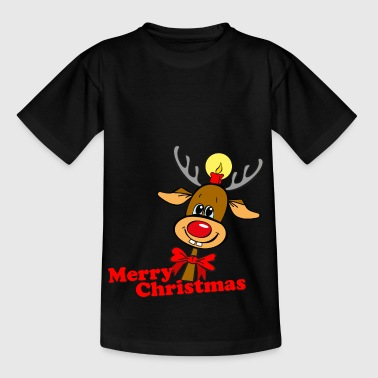 Rudi Rentier Merry Christmas - Kinder T-Shirt