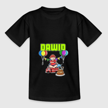 Fire Department Dawid Gift - Kids' T-Shirt